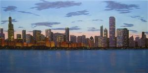Chicago Skyline - Evening Approaches